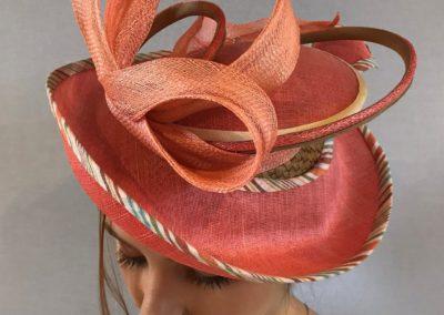 chapeau Céleste en paille ,sisal et coton