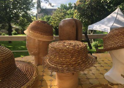chapeau de paille séchage