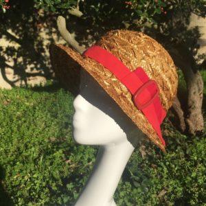 chapeau paille dentelle