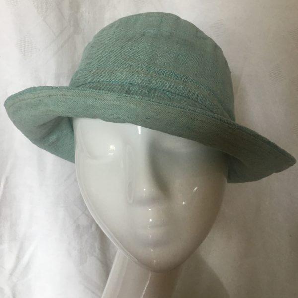 chapeau en lin vert Mary Colibri