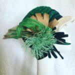 chachapeau cloche vert Mary Colibri