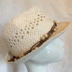 chapeau de paille masculin féminin écru