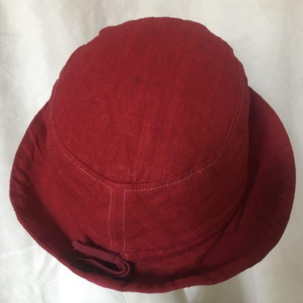 chapeau en lin framboise Mary Colibri
