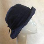 chapeau en lin marine Mary Colibri