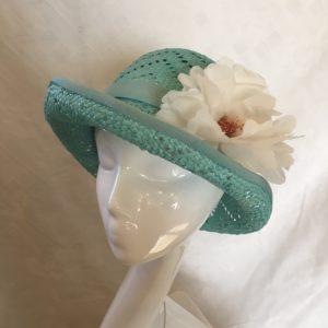 chapeau cloche vert Mary Colibri