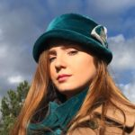 chapeau velours émeraude Mary Colibri