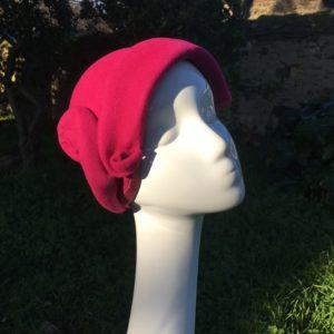 chapeau Rosa feutre laine fuschia
