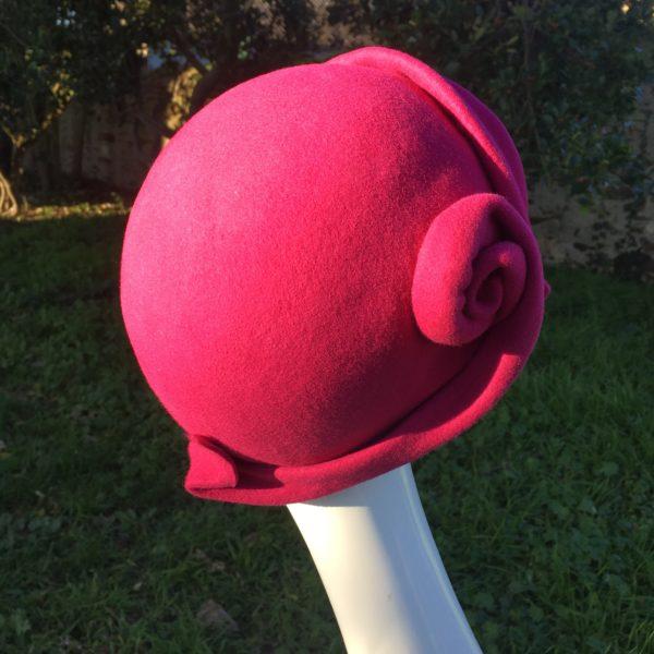 chapeau fuchsia Mary Colibri