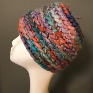 Bonnet crochet multicolore